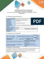 Guía de actividades y Rúbrica de evaluación- Paso 2-Diagnóstico