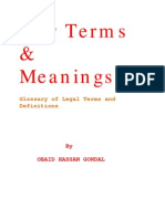 dictionary of law terms