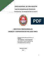 MANEJO Y DISPOSICIÓN DE RELAVES