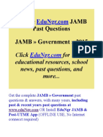 JAMB-Government-Past-Questions-EduNgr-Sample