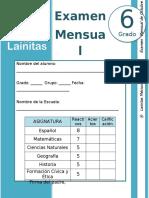 Octubre - 6to Grado - Examen Mensual (2019-2020)
