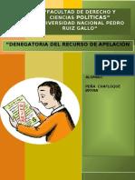 DENEGATORIA DE RECURSO DE APELACION