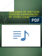 Sequencing of the Four Seasons Experienced by other Countries