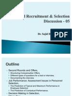 Advanced Recruitment & Selection - Lecture 05, 09-10-2010