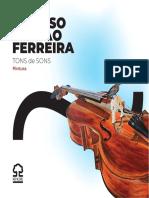 Catálogo da Exposição TONS de SONS de Afonso Pinhão Ferreira