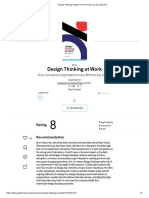 Abstract - Design Thinking at Work - David Dunne