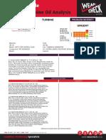 Report Example Advanced Turbine Oil Analysis