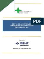 EDITAL - FUNDAÇÃO HOSPITALAR GETÚLIO VARGAS