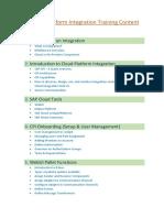 SAP Cloud Platform Integration Training Content