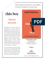 This Boy by Lauren Myracle Press Release