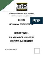 CE 400 - Report No. 1