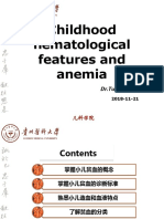 Hematological Features of Anemia