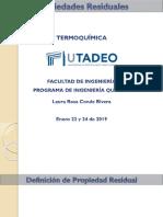 2. Termoquímica - Propiedades residuales - 2019 II