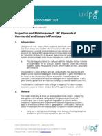 LPG Pipe Work Informaation UIS015