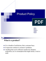 Presentation on Product Policy