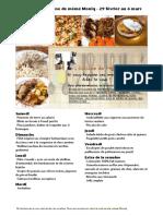 Menu de La Cuisine de Meme Moniq 29 Fevrier Au 6 Mars