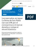 Cae la Bolsa de San Pablo
