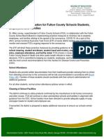 Fulton County Schools coronavirus guidance