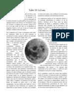 Taller Lectura 1 - La Luna Grado 6