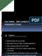 Cultural Influences