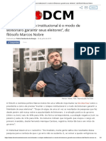 Manter o colapso institucional é o modo de Bolsonaro garantir seus eleitores_, diz filósofo Marcos Nobre