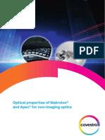 Optical properties of Makrolon and Apec