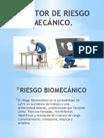 FACTOR DE RIESGO BIOMECÁNICO Y PSICOSOCIAL