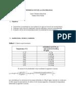 DETERMINACION DE LA SOLUBILIDAD INFORME QUIMICA (1)
