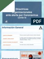 Directrices ante Corona virus