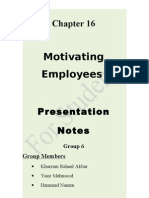 Motivating Employes Class Handout