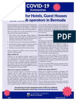 Guidance for Hotels 9 Mar 2020