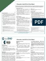 Peracetic Acid Fact Sheet