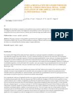 Algunos problemas de la regulación de los Recursos de Apelación y Nulidad en el CPP. OLIVER CALDERON, GUILLERMO