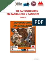 CURSO DE AUTOSOCORRO EN BARRANCOS Y CAÑONES