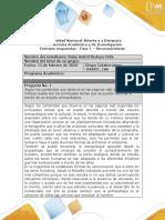 Formato respuesta - Fase 1 - Reconocimiento ANTROPOLOGIA