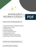 INTRODUÇÃO À MECÂNICA CLÁSSICA 02