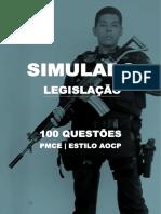 SIMULADO 100 QUESTOES PMCE - ESTILO AOCP