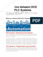 Difference between DCS & PLC Systems