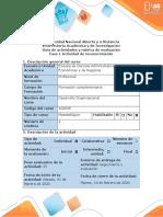 Guía de actividades y rúbrica de evaluación - Fase 1 Actividad de reconocimiento