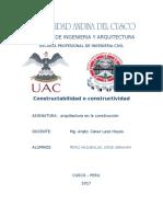 CONSTRUCTABILIDAD O CONSTRUCTIVIDAD