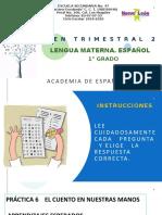 EXAMEN TRIMESTRAL 2 LENGUA MATERNA. ESPAÑOL 1°.pptx