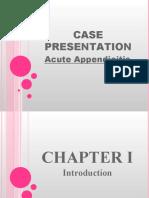 Case Presentation Appendicitis