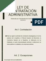 Ley de contracción administrativa