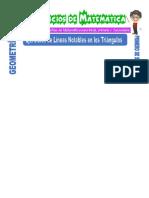 Ejercicios de Líneas Notables en Los Triángulos Triángulos Para Primero de Secundaria