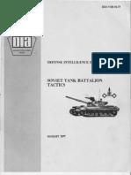 Soviet Tank Battalion Tactics