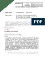 ACTA DE ENTREGA JURÍDICA