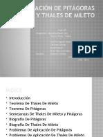Pitágoras y Thales de Mileto