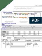 Application Form for Assessment