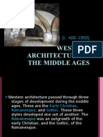 Western Architecture in the Middle Ages