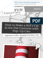 How to Make a Kid's Cat in the Hat Costume with Pop-Up Cats